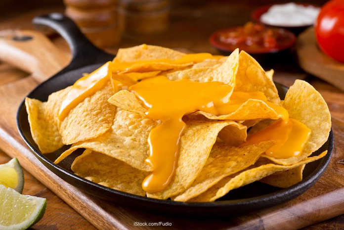 Nacho Cheese Sauce on Chips