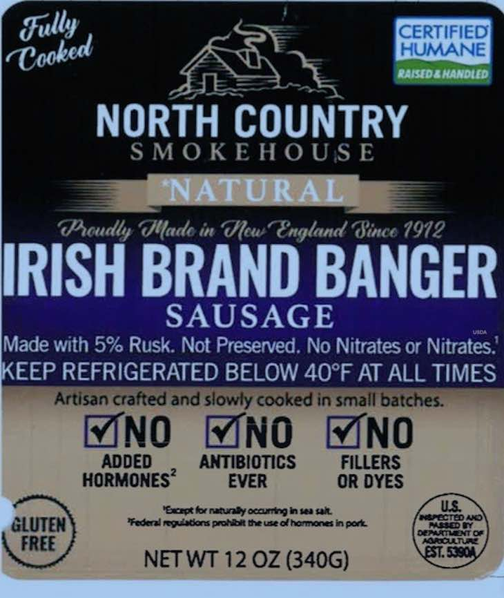 North Country Smokehouse Banger Recall