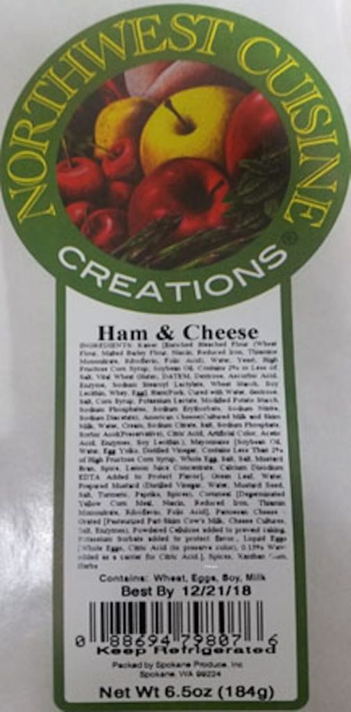Northwest Cuisine Creations Recall