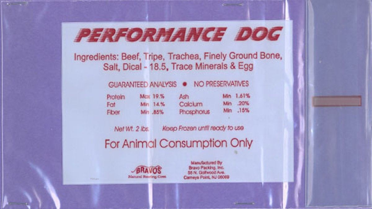 Performance Dog Salmonella Recall