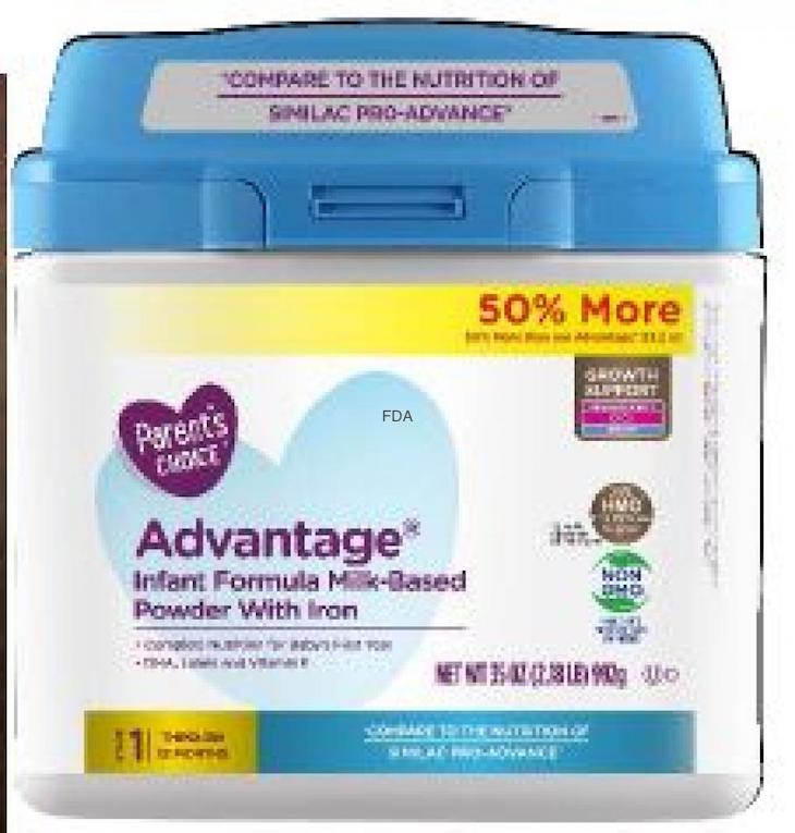 Parent's Choice Infant Formula Recalled For Foreign Material