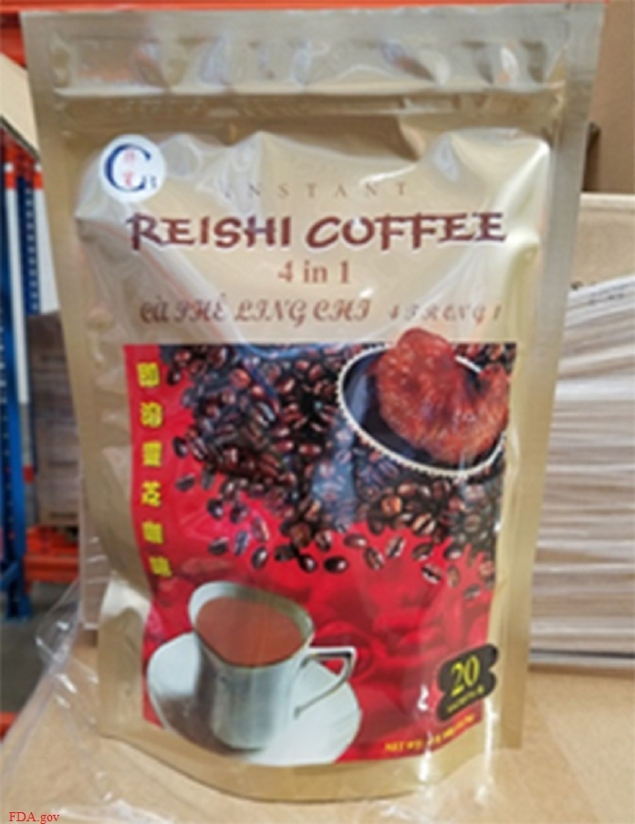 Reishi coffee recalled for undeclared milk