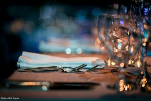 Luxury Restaurant Table setting.