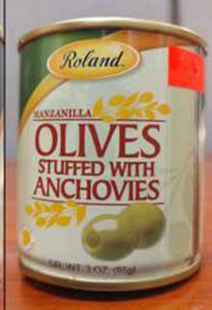 Roland Stuffed Olives Recall