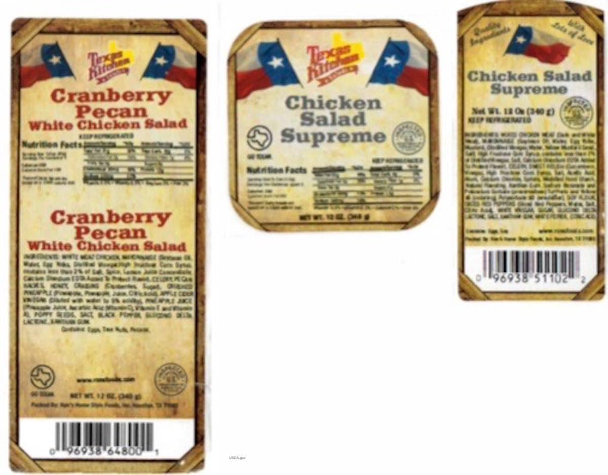 Ron's Home Style Foods Chicken Salad Listeria Recall