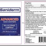 Saniderm Advanced Hand Sanitizer Recalled For Undeclared Methanol