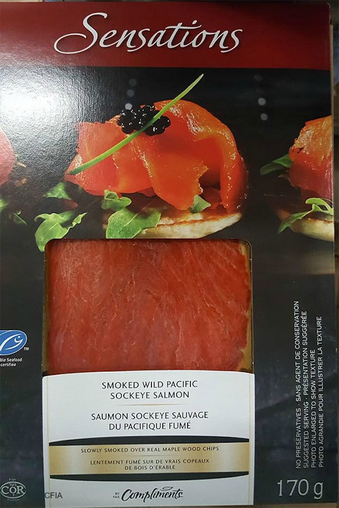 Sensations by Compliments Smoked Salmon Listeria Recall