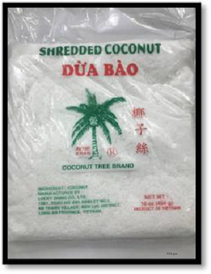 Evershing Shredded Coconut Salmonella Recall