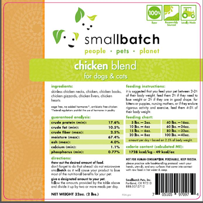 Smallbatch Pet Food Salmonella Recall