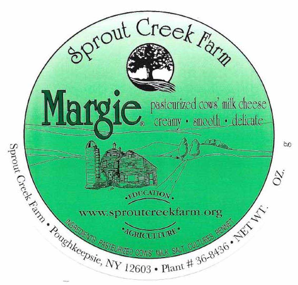 Sprout Creek Farm Margie Listeria Recall