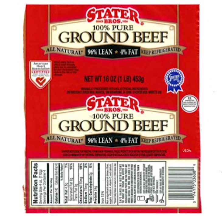 Stater Bros. Ground Beef Linked to Salmonella Dublin Outbreak