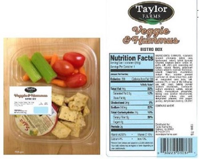 Taylor Farms Snack Tray Recall