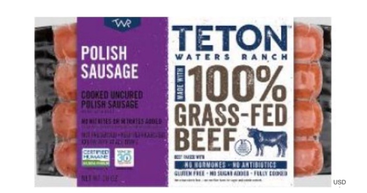 Teton Waters Ranch Polish Sausage Recalled For Allergen