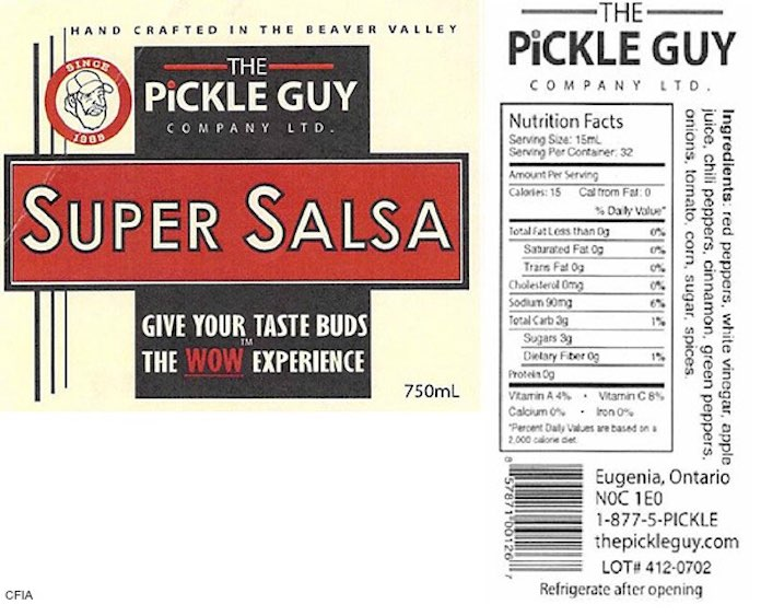 The Pickle Guy Allergens Recall