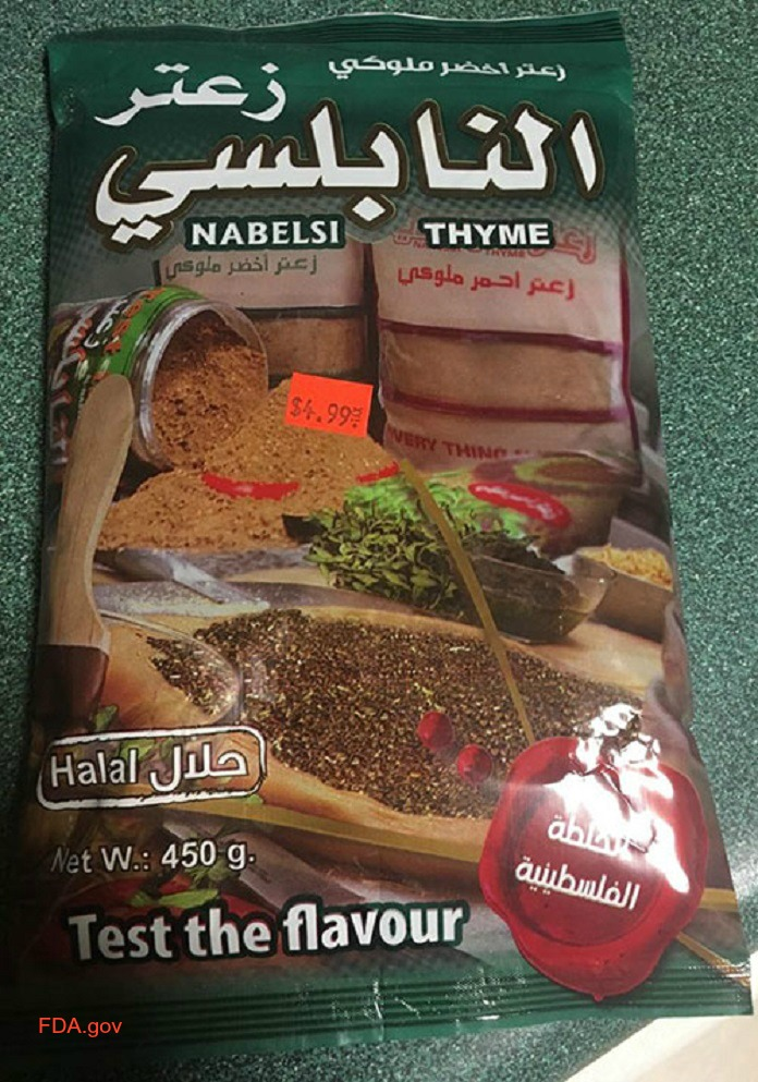 Lead-contaminated Nabelsi Thyme