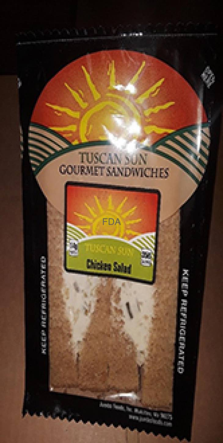Tuscan Sun Chicken Salad Sandwiches Recalled For Listeria