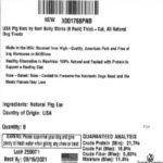 USA Thick Pig Ears Recalled For Possible Salmonella Contamination