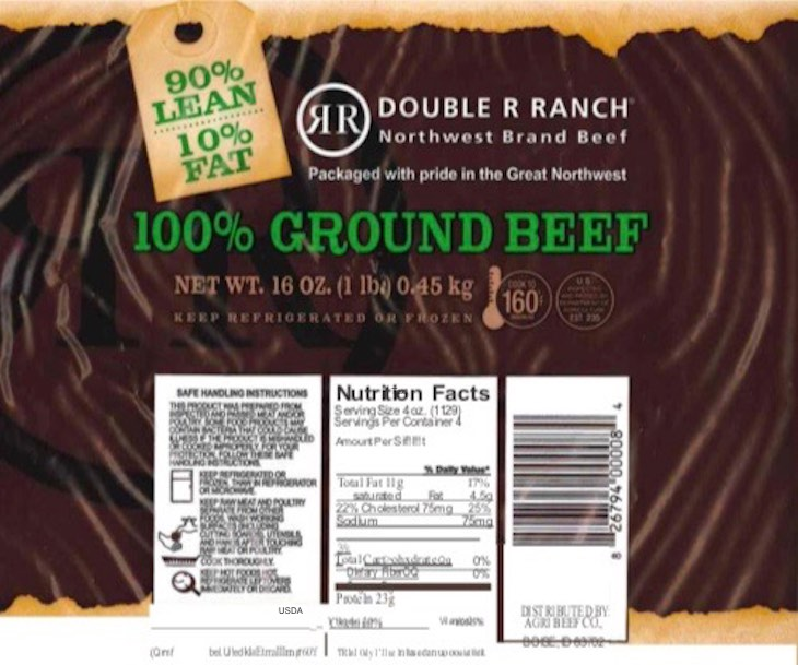 Washington Beef Ground Beef Recall