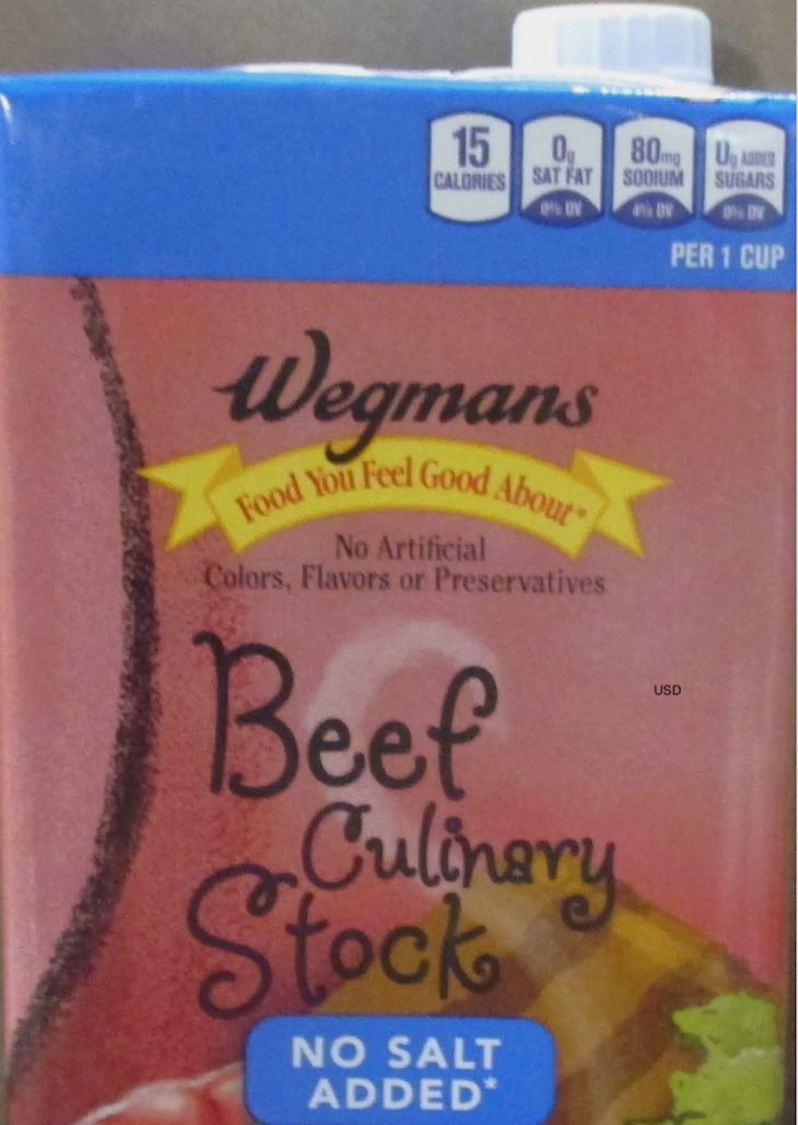 Wegmans Beef Culinary Stock No Salt Under Public Health Alert