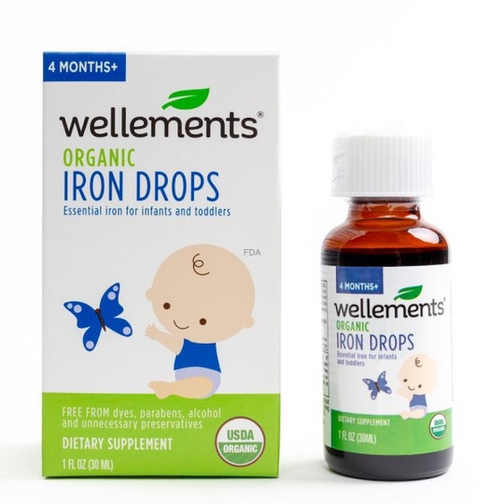 Wellements Iron Drops Recalled For Undeclared Milk