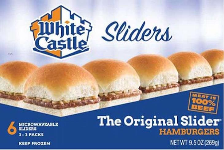White Castle Frozen Sandwiches Recalled For Possible Listeria