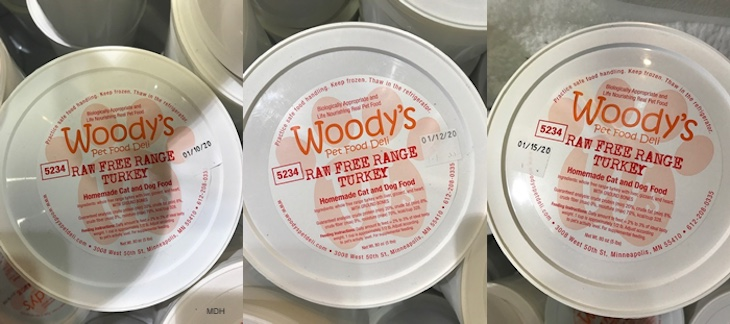 Woody's Pet Food Deli Salmonella