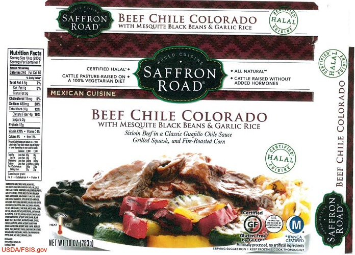 Beef Chile Colorado Frozen Meals Recall