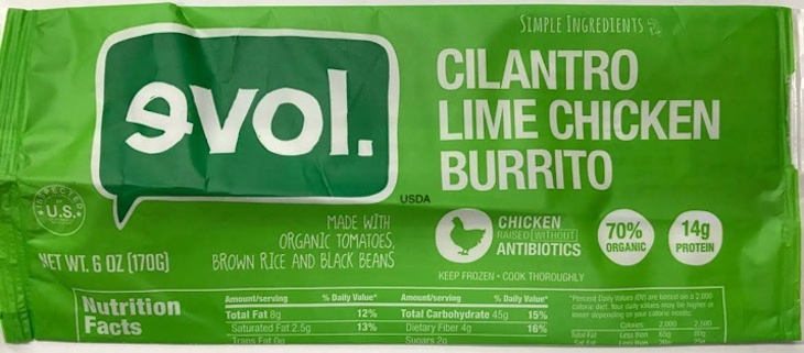 Cilantro Lime Chicken Burrito Recalled For Undeclared Egg
