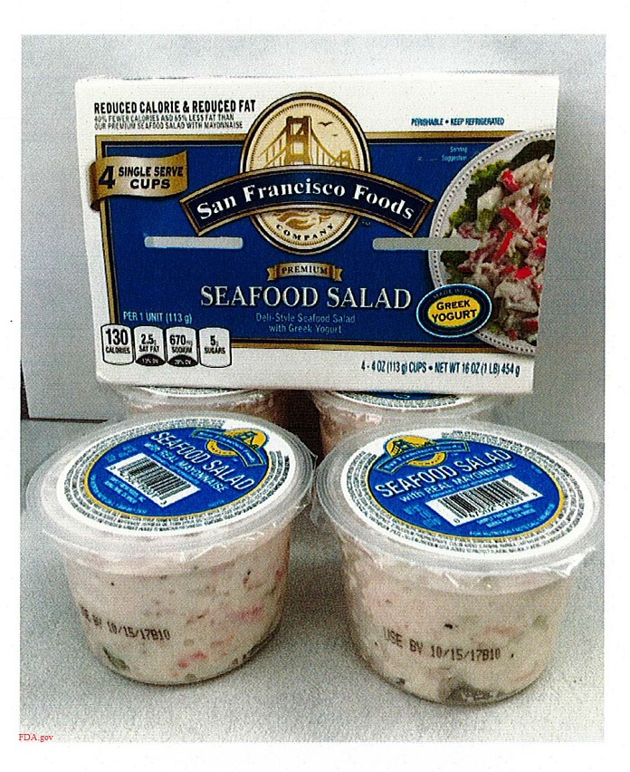 Seafood salad contains undeclared milk