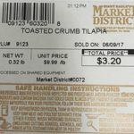 Slade Gorton Co., Inc. and Giant Eagle Inc. Recall Breaded Tilapia Products for Undeclared Milk